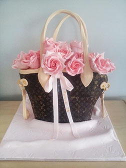 Louis Vuitton Roses Cake