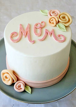 Simply Pastel Mother's Day Cake