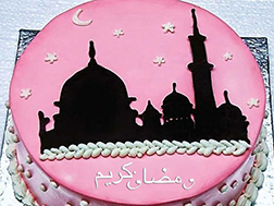 Mosque Silhouette Ramadan Cake