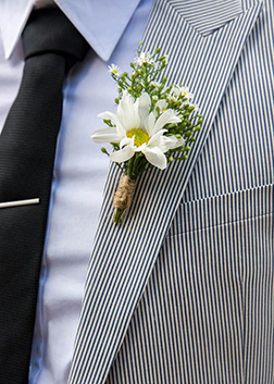 White Stallion Boutonniere