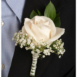Royal Rose Boutonniere