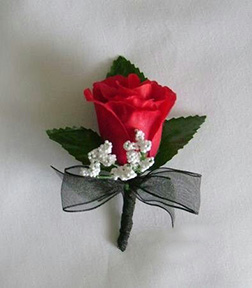 Touch of Silk Boutonniere