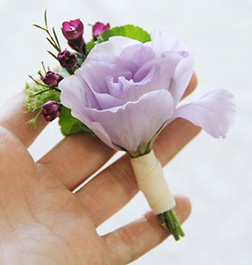 Signature Purple Boutonniere