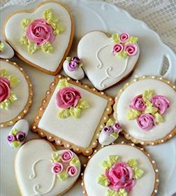 Rosy Celebrations Cookies