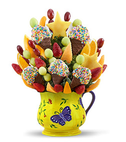 Butterflies & Confetti Fruit Bouquet