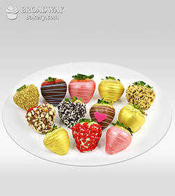Hearts Gone Nuts - Dozen Dipped Strawberries