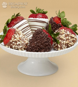 Nuts About Chocolate Covered Strawberries - Half Dozen