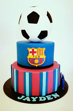 FC Barcelona Tiered Cake