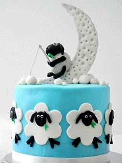 Crescent Sheep Eid Cake