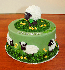 Prancing Sheep Eid Cake