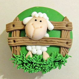 Sheep Farm Eid Cake