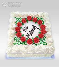 Eid Ruffles & Roses Cake