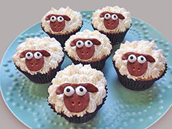 Sheep Parade Cupcakes