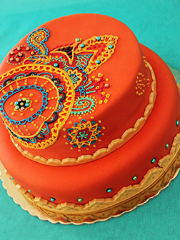Diwali Decorations Tiered Cake