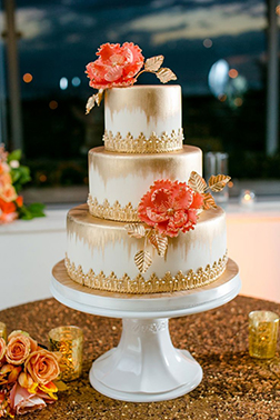 Golden Diwali Tiered Cake