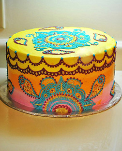 Vivid Colors Diwali Cake