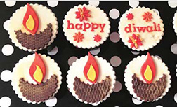 Diwali Lights Cupcakes