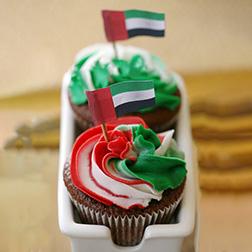 Waving Flag Cupcakes