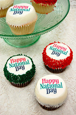 National Day Wishes Cupcakes