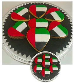 UAE Flag Heart Cookies