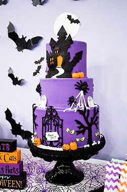 Haunted Manor Tiered Cake