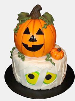 Pumpkin Patch Halloween Cake