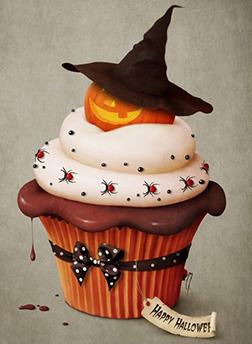 Bewitching Pumpkin Cupcake Cake