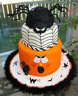 Evil Spider Surprise Cake