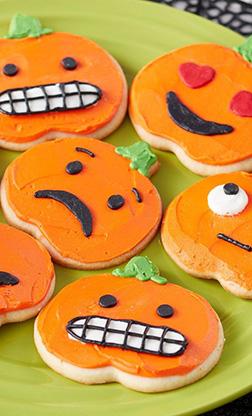 Pumpkin Emojis Cookies