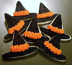 Frosted Witch Hat Cookies