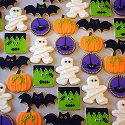 Assorted Halloween Spooks Cookies