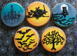 Intricately Artistic Halloween Cookies