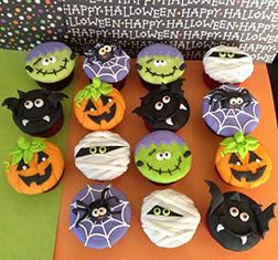 Monster Ball Cupcakes