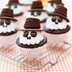 Assorted Skull Cupcakes