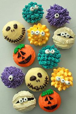 Monster Chow Cupcakes
