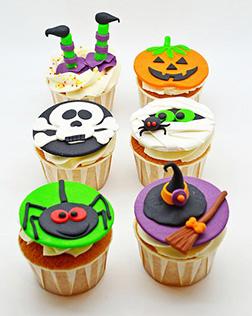Cheery Halloween Cupcakes