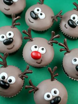 Santa's Reindeers - Half Dozen Cupcakes