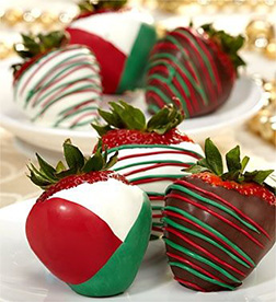 Christmas Cheer Dipped Strawberries