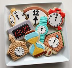 Rock Around the Clock Cookies