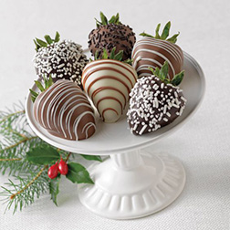 New Year Wishes Dipped Strawberries