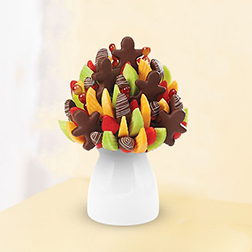 Chocolate Snowmen Fruit Bouquet