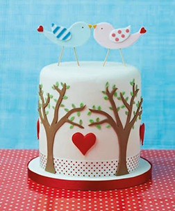 Lovebirds of A Feather Cake