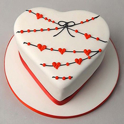 Heart Strings Love Cake