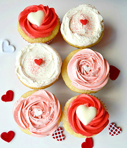 A Lover's Rose - 6 Cupcakes