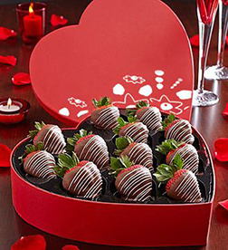 Truly Romantic Dipped Strawberries