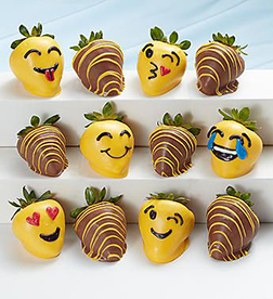 Emojis Dipped Strawberries