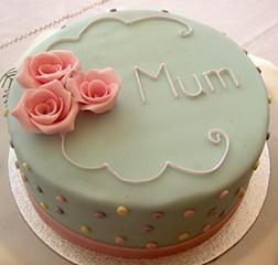 Polka Dot Mother's Day Cake