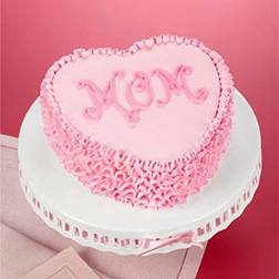 Ruffle Heart Mother's Day Cake
