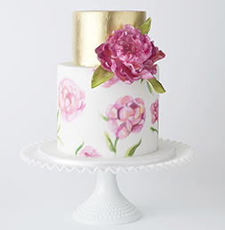 Golden Blooms Mother's Day Cake