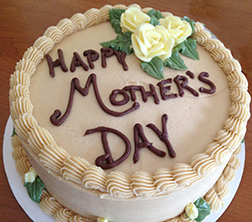 Frosted Happy Mother's Day Cake